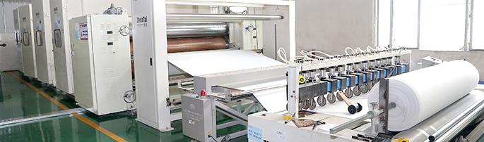 针刺棉,热风棉,ES热风棉,针刺无纺布生产车间