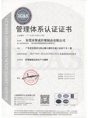 世纪娱乐2015版ISO质量认证证书