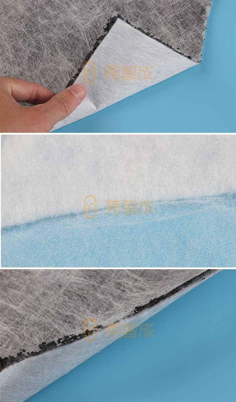 夹碳布针刺棉实拍图
